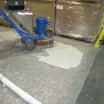 During Concrete Polishing