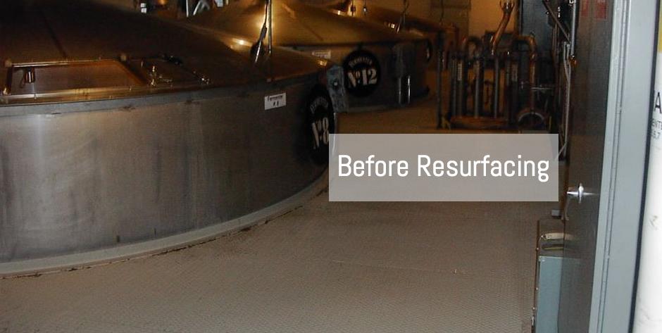 Jack Daniels Distillery Steel Floor - BEFORE